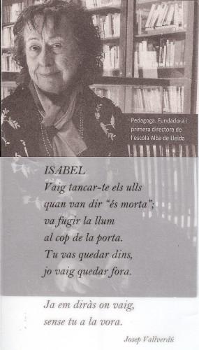 Homenatge a la Isabel